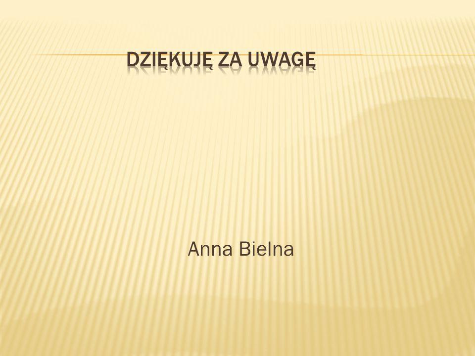 DZIĘKUJĘ ZA UWAGĘ Anna Bielna