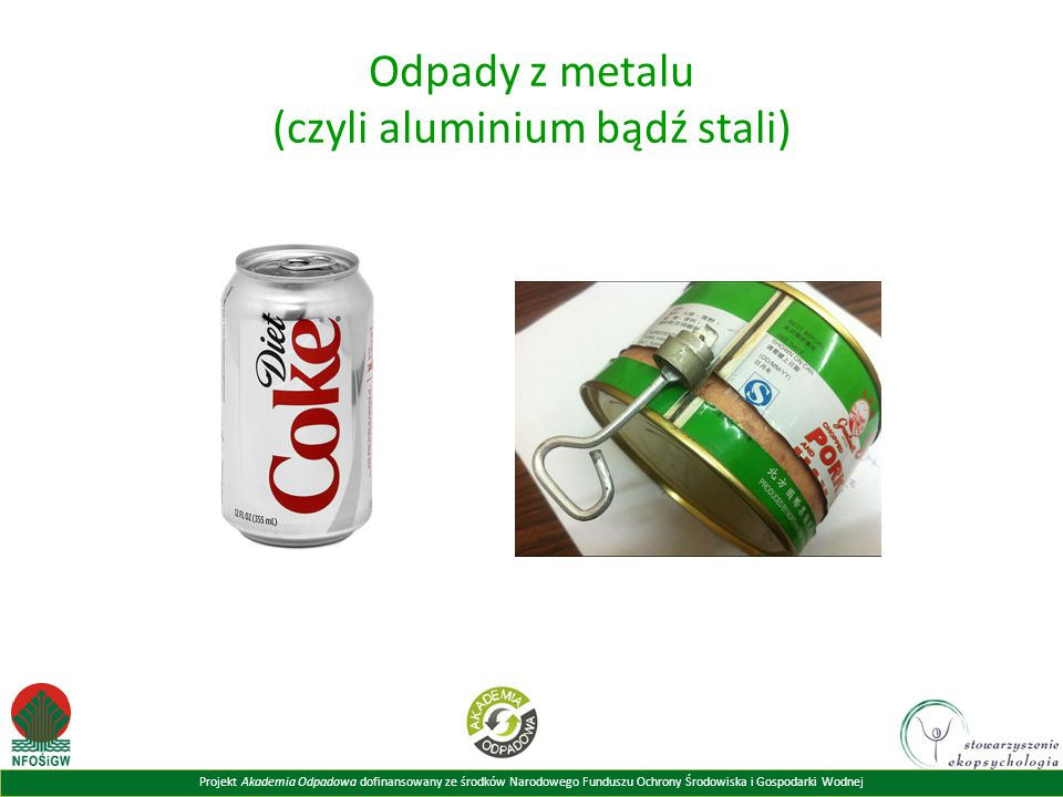 Odpady z metalu (czyli aluminium bądź stali)