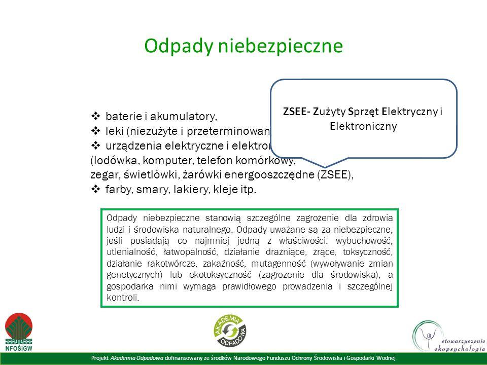 ZSEE- Zużyty Sprzęt Elektryczny i Elektroniczny