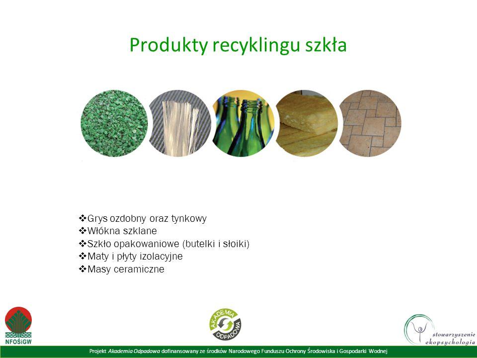 Produkty recyklingu szkła