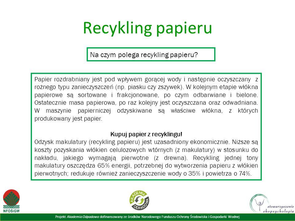Kupuj papier z recyklingu!