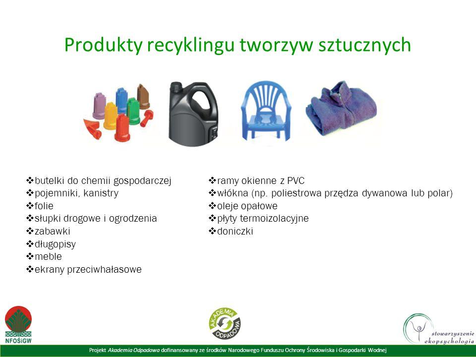 Produkty recyklingu tworzyw sztucznych