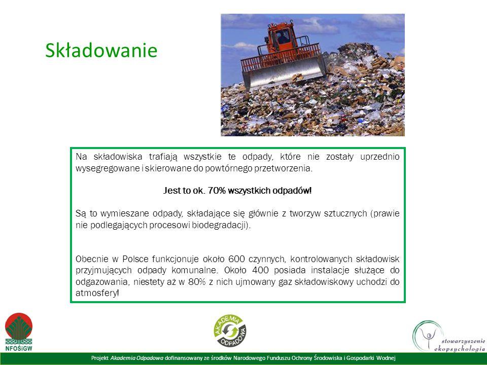Jest to ok. 70% wszystkich odpadów!