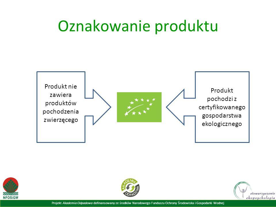 Oznakowanie produktu Produkt nie zawiera produktów pochodzenia zwierzęcego. Produkt pochodzi z certyfikowanego gospodarstwa ekologicznego.