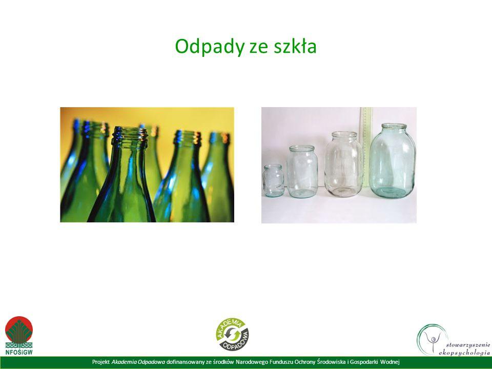 Odpady ze szkła Powyższy slajd prezentuje przykłady odpadów ze szkła.
