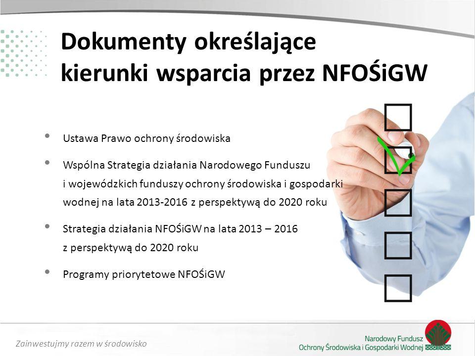 Dokumenty określające kierunki wsparcia przez NFOŚiGW
