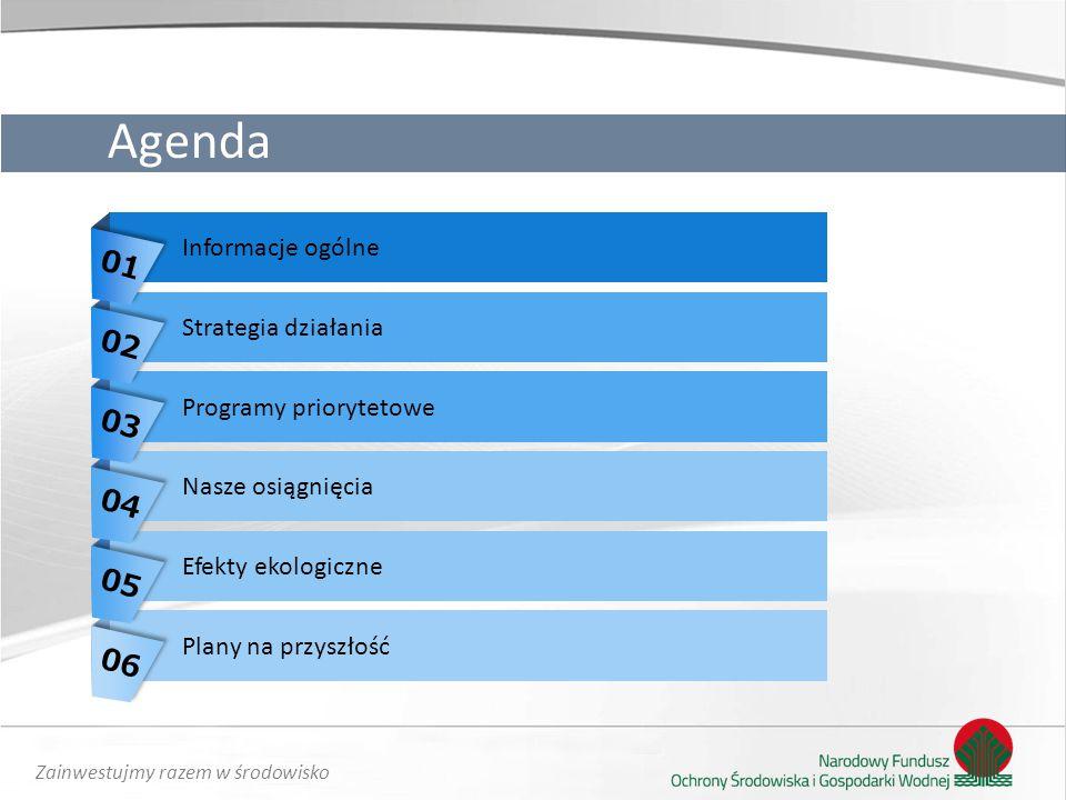 Agenda 01 02 03 04 05 06 Informacje ogólne Strategia działania