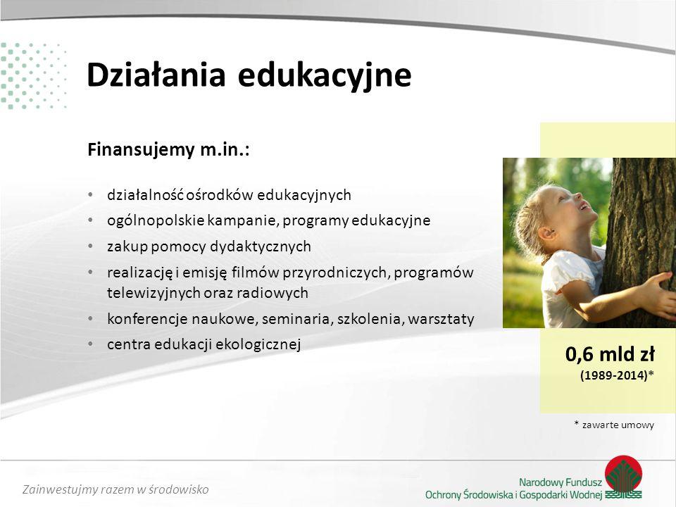 Działania edukacyjne 0,6 mld zł Finansujemy m.in.: