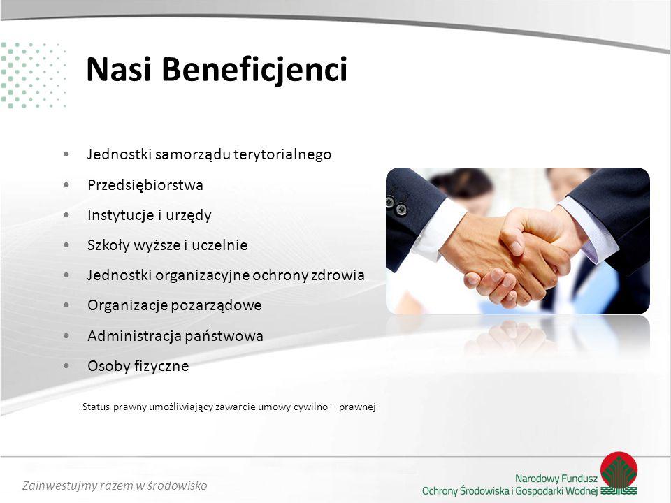 Nasi Beneficjenci Jednostki samorządu terytorialnego Przedsiębiorstwa