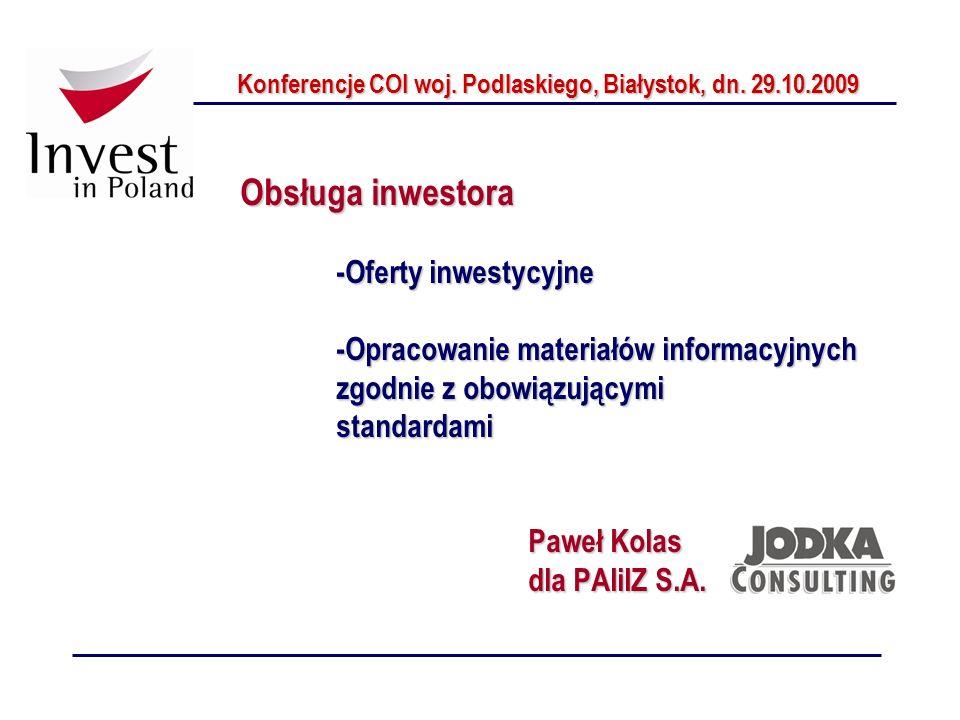 Konferencje COI woj. Podlaskiego, Białystok, dn. 29.10.2009