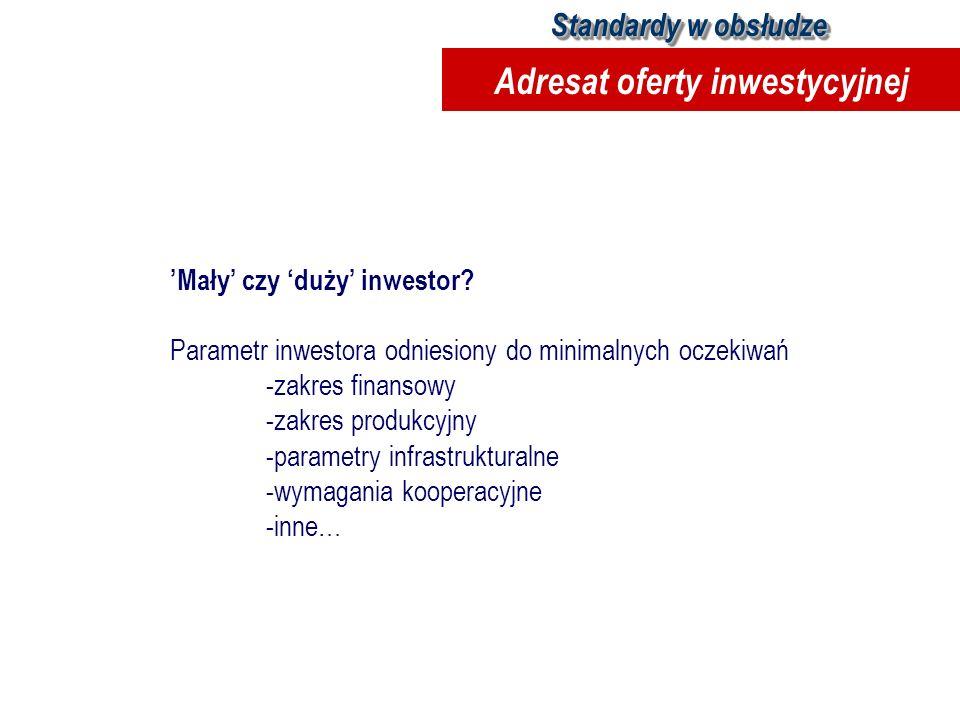 Adresat oferty inwestycyjnej