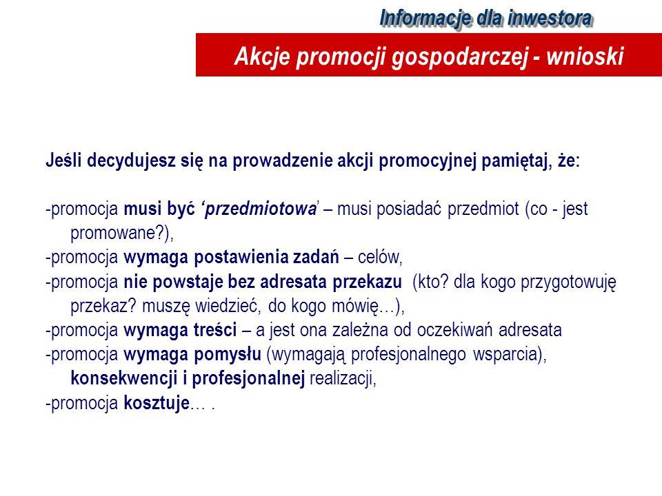 Akcje promocji gospodarczej - wnioski