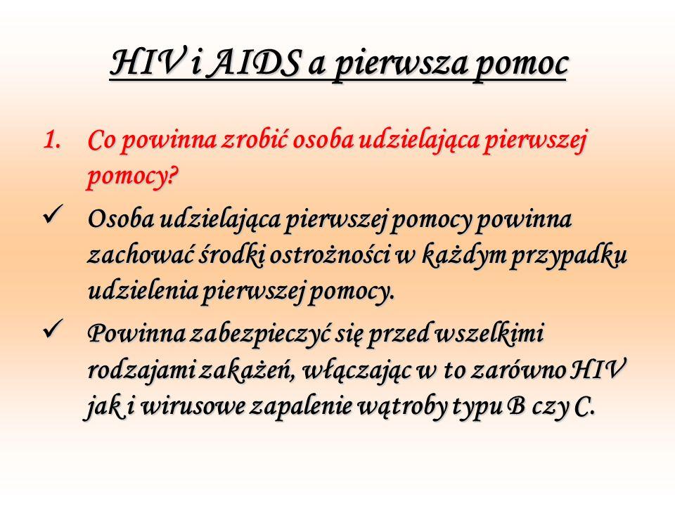 HIV i AIDS a pierwsza pomoc