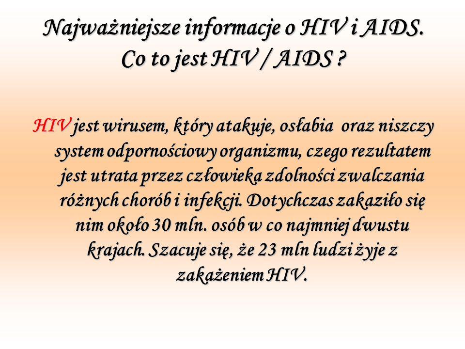 Najważniejsze informacje o HIV i AIDS. Co to jest HIV / AIDS