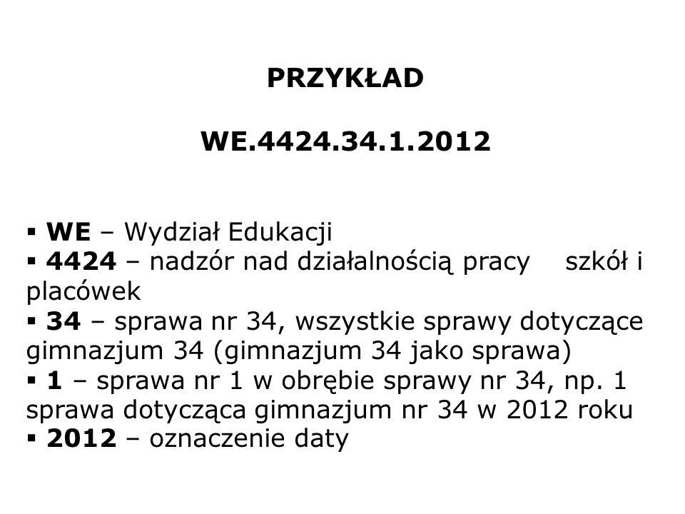 PRZYKŁAD WE.4424.34.1.2012 WE – Wydział Edukacji