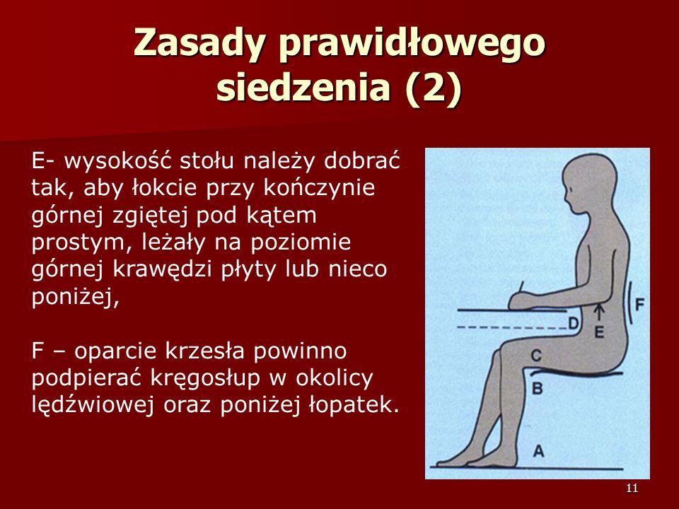 Zasady prawidłowego siedzenia (2)