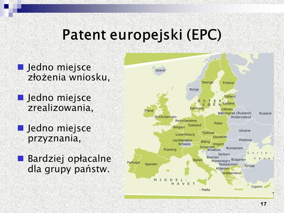 Patent europejski (EPC)