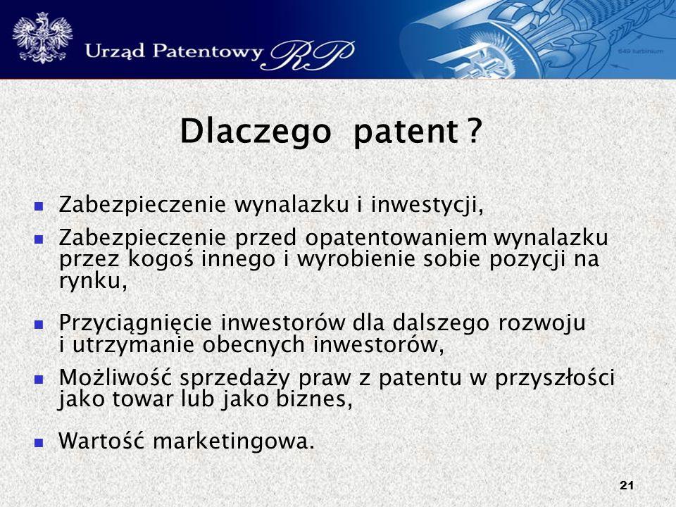 Dlaczego patent Zabezpieczenie wynalazku i inwestycji,