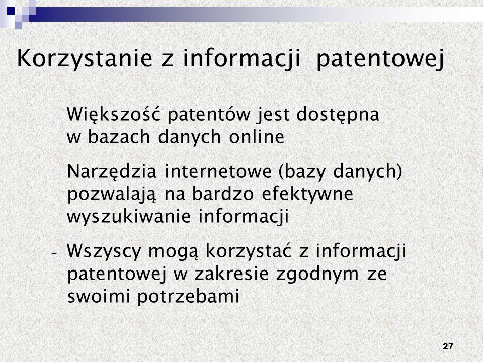 Korzystanie z informacji patentowej