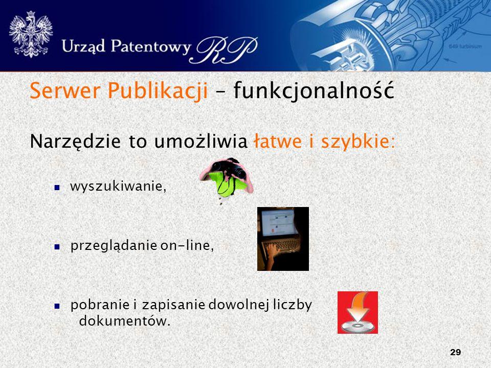 Serwer Publikacji – funkcjonalność