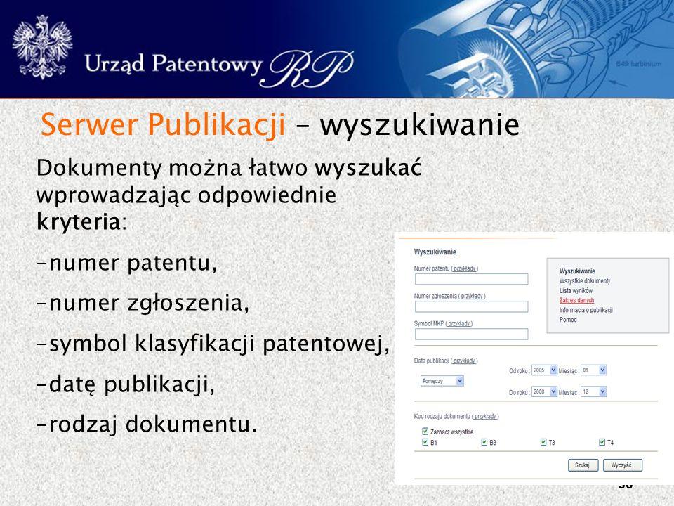 Serwer Publikacji – wyszukiwanie