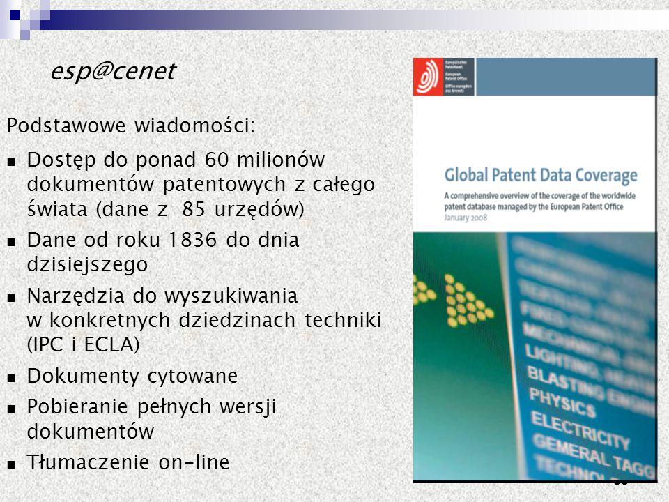 esp@cenet Podstawowe wiadomości: