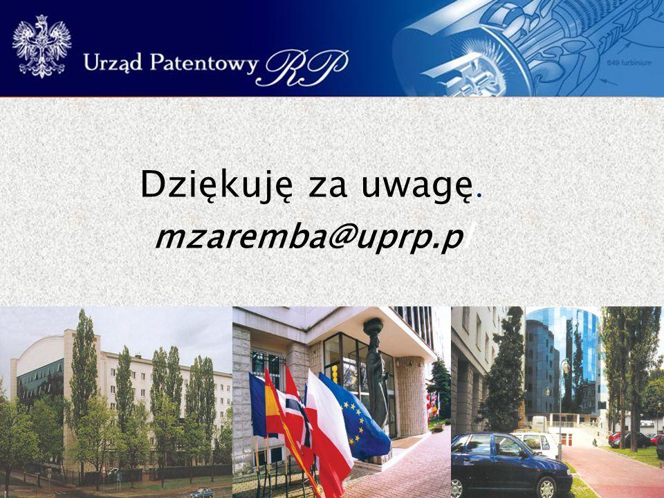 Dziękuję za uwagę. mzaremba@uprp.pl
