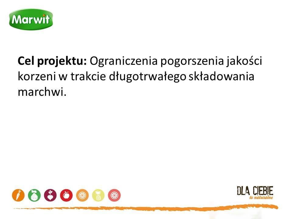 Cel projektu: Ograniczenia pogorszenia jakości korzeni w trakcie długotrwałego składowania marchwi.