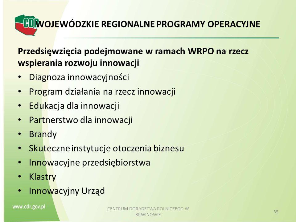 WOJEWÓDZKIE REGIONALNE PROGRAMY OPERACYJNE