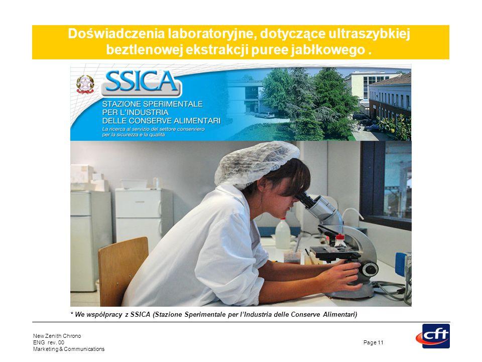 Doświadczenia laboratoryjne, dotyczące ultraszybkiej beztlenowej ekstrakcji puree jabłkowego .