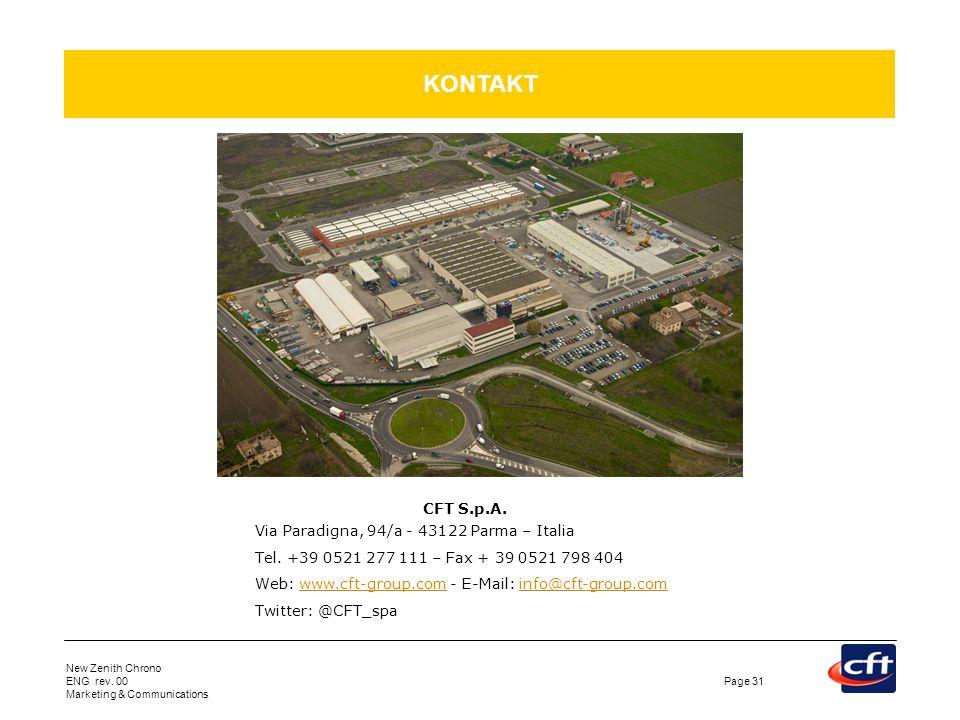 KONTAKT CFT S.p.A. Via Paradigna, 94/a - 43122 Parma – Italia