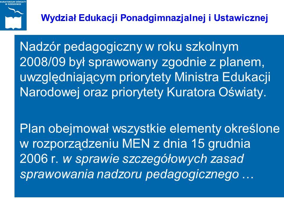 Wydział Edukacji Ponadgimnazjalnej i Ustawicznej