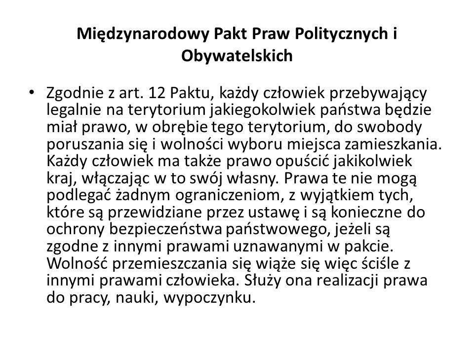 Międzynarodowy Pakt Praw Politycznych i Obywatelskich