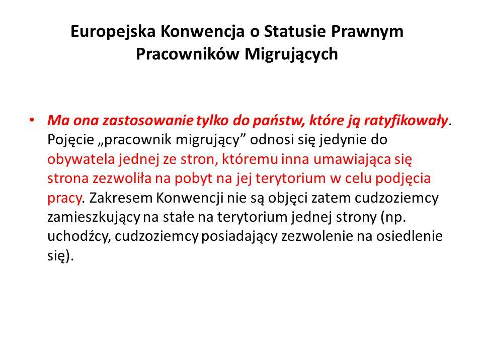 Europejska Konwencja o Statusie Prawnym Pracowników Migrujących