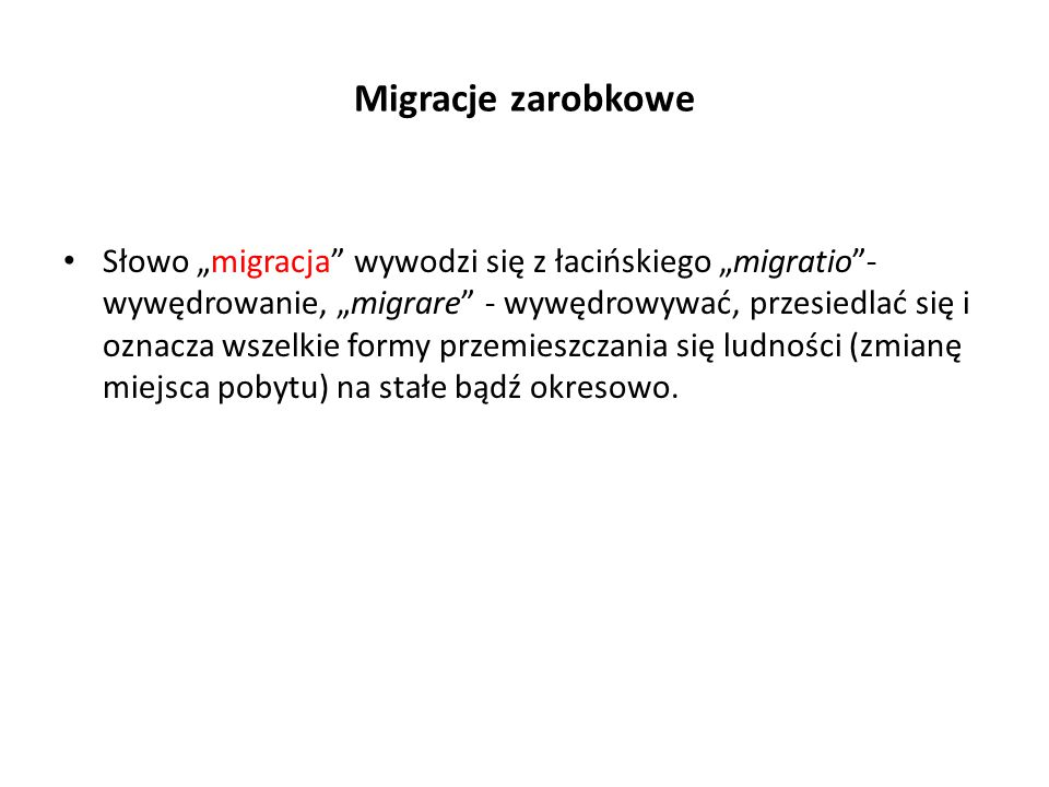 Migracje zarobkowe
