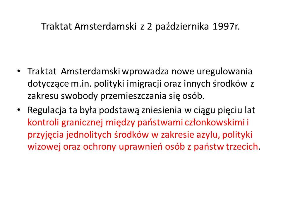 Traktat Amsterdamski z 2 października 1997r.