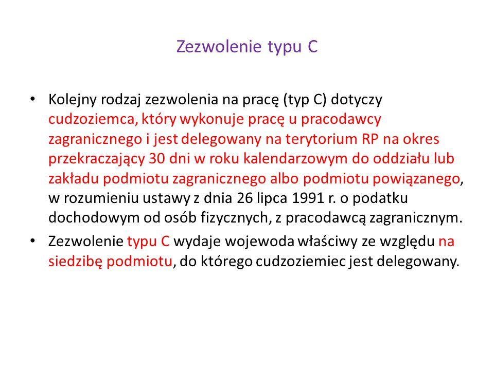 Zezwolenie typu C