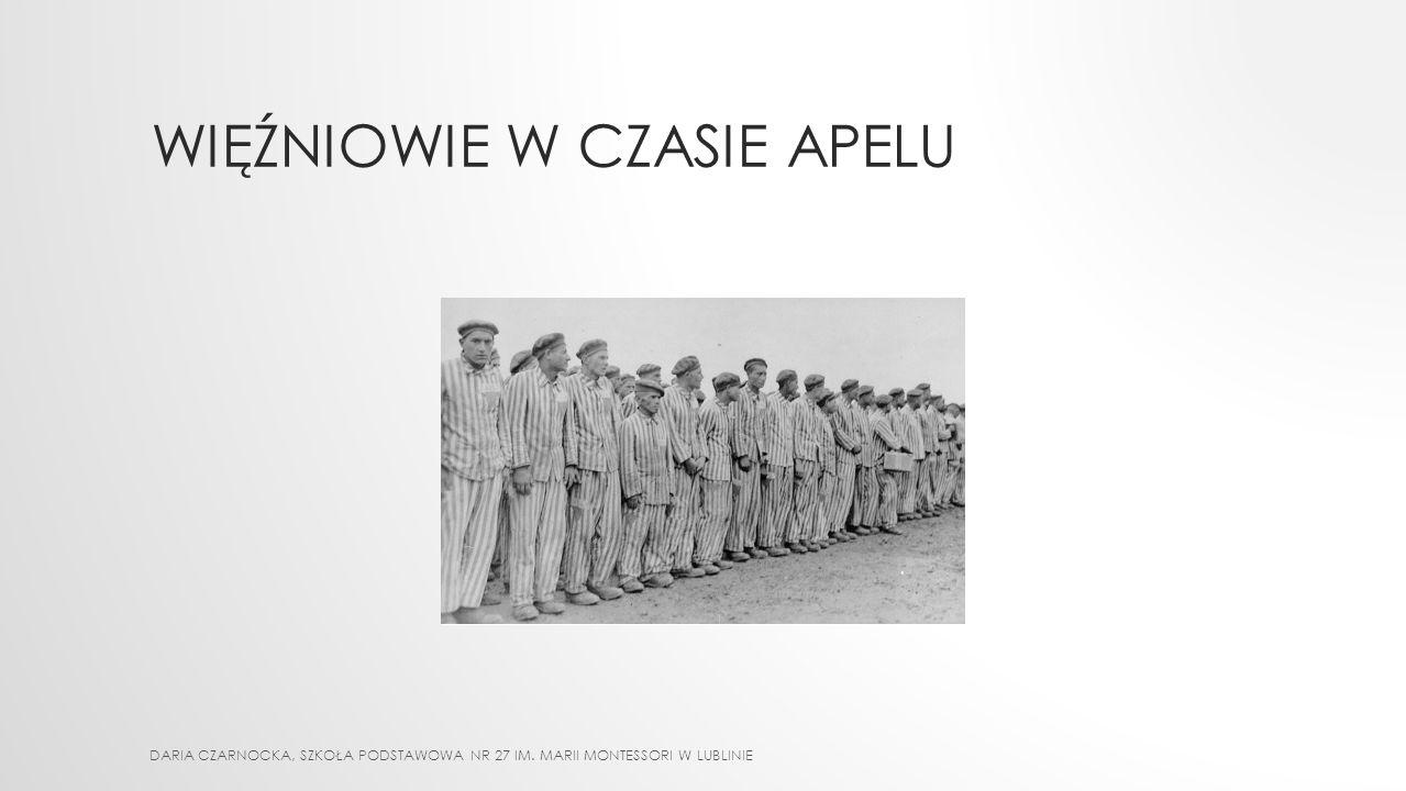 Więźniowie w CZASIE APELU