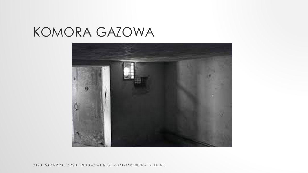 KOMORA GAZOWA DARIA CZARNOCKA, Szkoła Podstawowa nr 27 im. Marii Montessori w Lublinie
