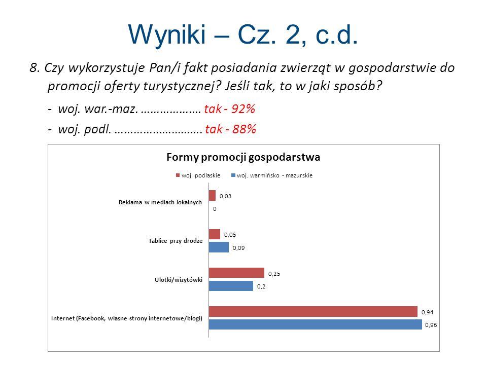 Wyniki – Cz. 2, c.d. - woj. war.-maz. ………………. tak - 92%