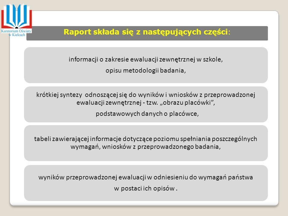 Raport składa się z następujących części:
