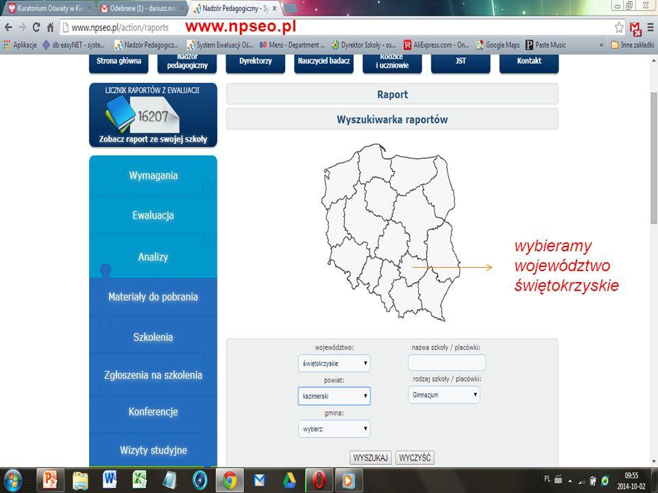 www.npseo.pl wybieramy województwo świętokrzyskie