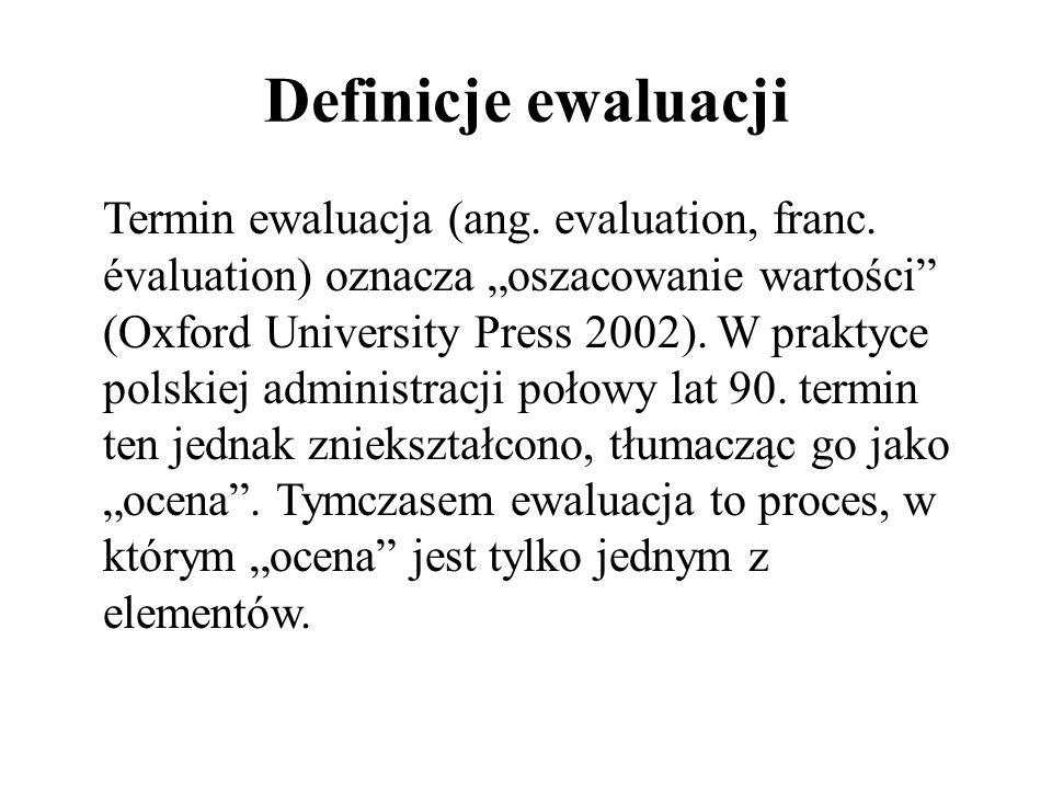 Definicje ewaluacji