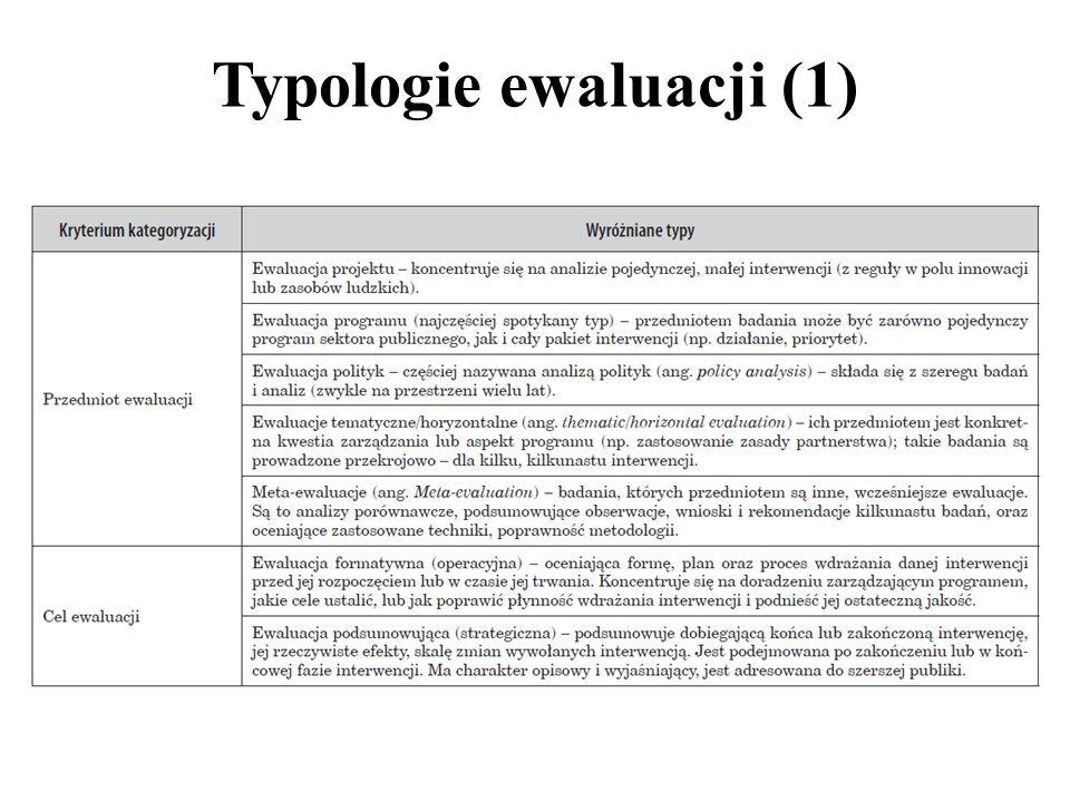 Typologie ewaluacji (1)
