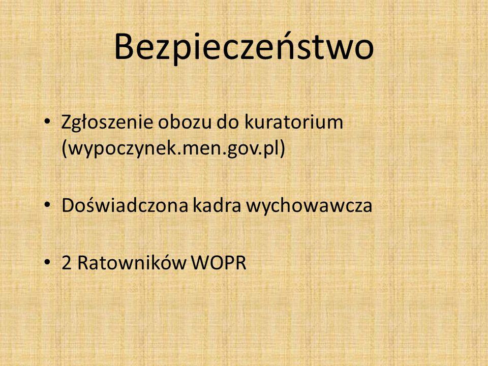 Bezpieczeństwo Zgłoszenie obozu do kuratorium (wypoczynek.men.gov.pl)