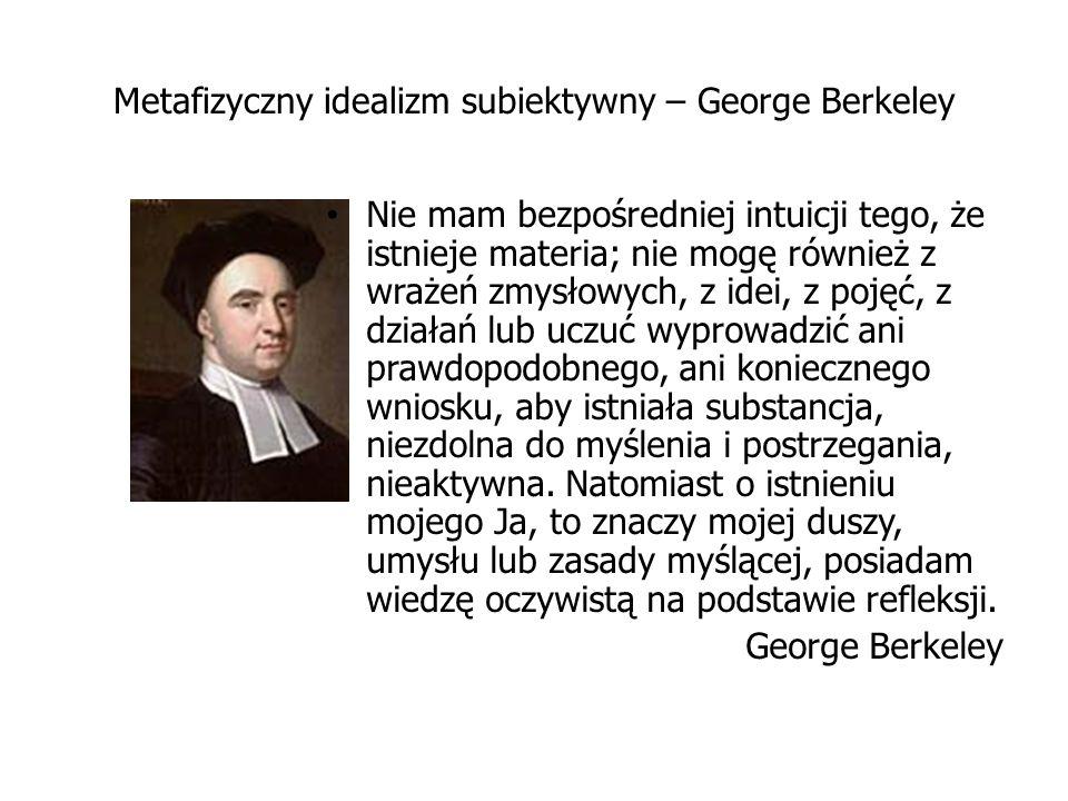 Metafizyczny idealizm subiektywny – George Berkeley