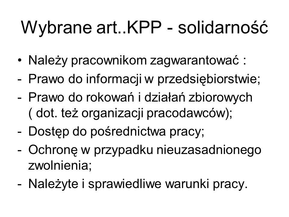 Wybrane art..KPP - solidarność