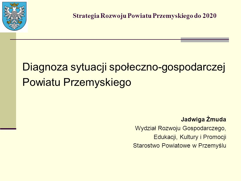 Strategia Rozwoju Powiatu Przemyskiego do 2020