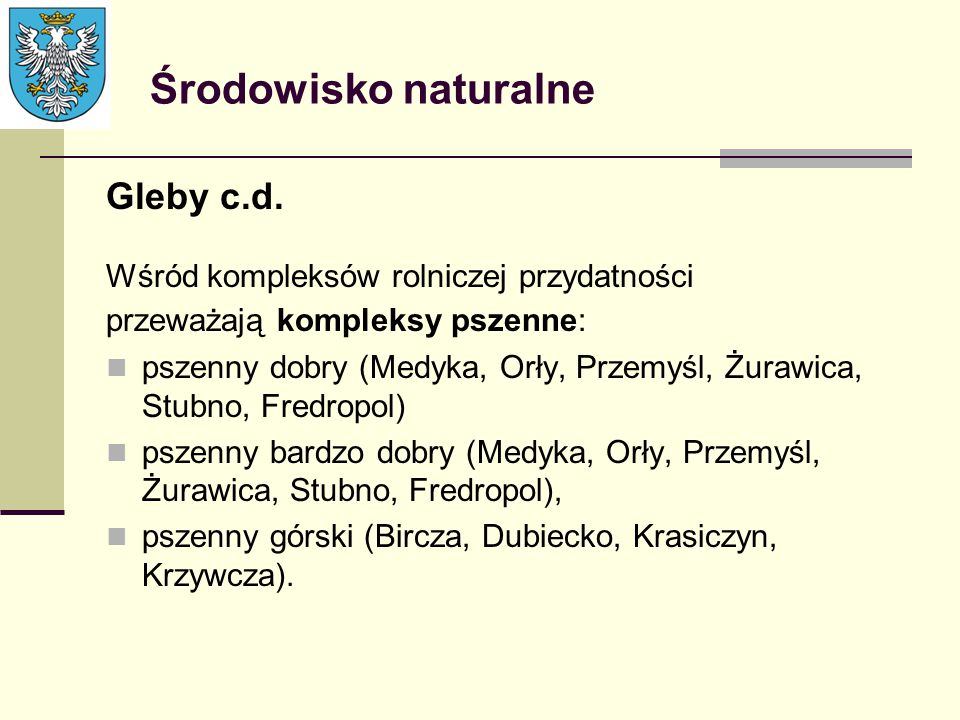 Środowisko naturalne Gleby c.d.