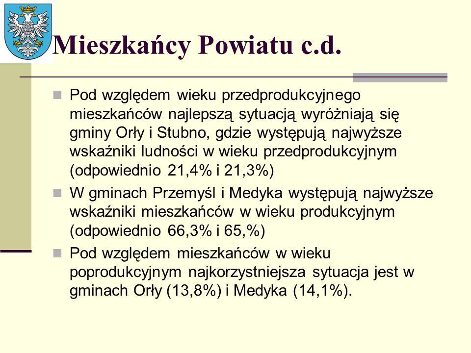 Mieszkańcy Powiatu c.d.